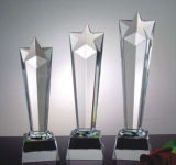 Mejores Ventas de premio en blanco Trofeo de cristal para el regalo del negocio