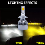 H7 3800 Lumens Meilleure luminosité COB avec double Projecteur à LED de couleur de lumière à LED de voiture et kits de 35W HID Source de l'usine