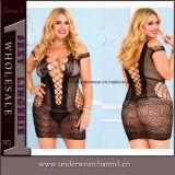 Las mujeres Plus Size mayorista de ropa interior sexy vestido de noche lenceria (T31002-2P)