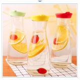 다채로운 플라스틱 뚜껑을%s 가진 1L 견본 음료 주스 유리병