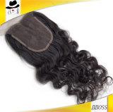 закрытие шнурка 3.5*4Brazilian волос 100percent Remy