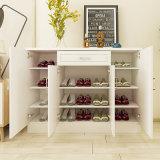 2018熱い販売の白い木の靴のキャビネット