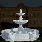 Beeldhouwwerk van de Fontein van het Water van de Steen van de decoratie het Openlucht Witte en Rode Marmeren