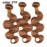 Оптовая продажа 4# Brown сотка человеческие волосы бразильянина девственницы волос Remy Unprocessed