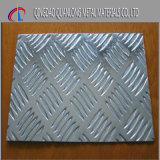 1050 3003 3105 Cinco Bar Placa quadriculada de alumínio em relevo