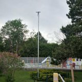 Éclairage solaire de jardin de forme de lune de Bluesmart avec le contrôle sec