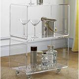 Дешевые High-end квадратных ясно акриловый консоли кофе обеденный стол дисплея