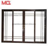 Коммерчески алюминиевая стеклянная дверь для раздвижной двери двойника сбывания
