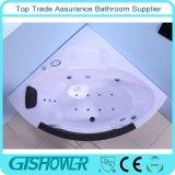 Дешевая ванна угла ванной комнаты с стеклом (KF-641)