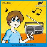 Zon van Afrika dreef ZonneLantaarn met de Hoge Lamp van de Muziek van het Lumen met de Radio van de FM aan
