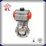 Санитарная клапан-бабочка режима автоматического управления Dn200 SUS304