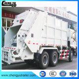 Do reboque 6 x 4 do tanque caminhão de lixo da compressão do caminhão de lixo do compressor 16cbm