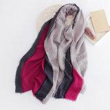 Женщины фасонируют шарф хлопка цвета блока тона 3 (YKY1134)