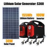 Éclairage solaire Panneau Solaire système générateur avec ampoules LED pour la maison/Camping