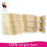 Besttingの販売のブロンドカラー膚触りがよくまっすぐな人間の毛髪の束