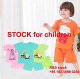 2.9 Dollor с 6 Цветной детский хлопок Short-Sleeved костюм на складе