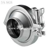 Tipo sanitario válvula de la abrazadera del acero inoxidable de verificación media de la vuelta de la autógena de la presión no