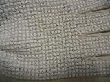 Les gants de coton ont pointillé le gant enduit de travail de sûreté de gants en caoutchouc de silicones