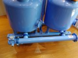De Machine van de Filter van de irrigatie/dubbel-Kamer de Met vier cilinders van Drie Cilinder het Systeem van de Filtratie van 48 van de Duim Media van het Zand voor het Grote Tarief van de Stroom