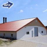 電流を通された鉄骨構造のニワトリ小屋の家禽の家の小屋