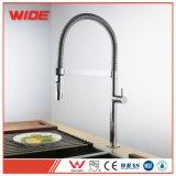 Le robinet simple de bassin de cuisine de traitement de ressort contemporain d'aimant avec abaissent le pulvérisateur à vendre
