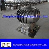 Ventilateur à turbine de toit sans courant en acier inoxydable