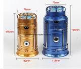 oro chiaro di campeggio solare 5W/lanterna portatile esterna addebitabile blu