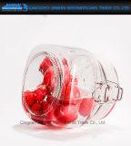recipiente de armazenamento de vidro redondo do alimento da cozinha 750ml com tampão do grampo