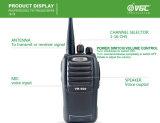 Vr-500 5ワットUHF/VHFの対面ラジオ16CHの携帯無線電話