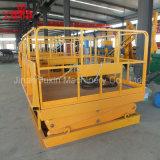 Plataforma hidráulica de la elevación de la carga del elevador eléctrico fijo al aire libre del cargo del almacén para la venta