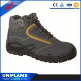 La sicurezza superiore di cuoio del taglio della metà della pelle scamosciata caric il sistemaare Calzado Trabajo Ufa029