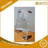 Het duidelijke AcrylCountertop Plastic Menu van de Houder
