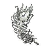 VAGULA 2016 Fashion Broche en plume plaquée or Broches en cristal strass en cristal VAG63012