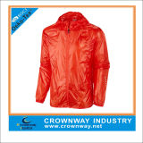 100% Polyester Lightweight Waterproof Running Jacket for Men