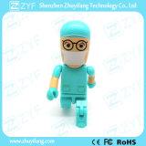 ロゴ(ZYF1834)の青い均一歯科医の医者8GB USBのフラッシュ駆動機構