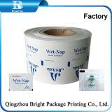 Las toallitas húmedas Pack papel de aluminio fabricado en China