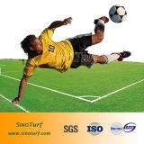 Futebol Hot-Selling, futebol de relva artificial relva sintética com fios Cw-Shape