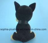 20cm brinquedo de pelúcia recheado brinquedo de cachorro preto