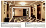 Comitato di parete del PVC decorato con le mattonelle di marmo
