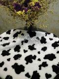 Pelliccia stampata del poliestere della mucca