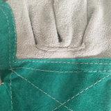 Настраиваемый логотип Green двойной Palm коровы Split кожаные перчатки