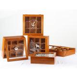 Caixa de oferta de madeira com divididos Caixa de madeira vintage para o comércio por grosso