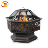 Patio Hex-Shaped Outdoor Fire bol en acier Lattice Fire Pit