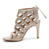 Avec Knot Platform Lady Beautiful Chaussures de soirée Chaussures à talons hauts