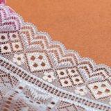 Свежие шнур кружевной ткани темно-фиолетовый цвета текстильной кружевом