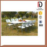 Restaurante de la boda de plástico al aire libre plegable mesa de picnic y silla