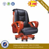 Cadeira ajustável de madeira do escritório executivo do couro da cadeira da saliência (HX-CR041)