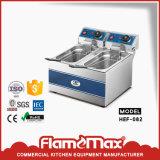 la friggitrice elettrica di 2-Tank 2-Basket fa in Cina (HEF-12L-2)