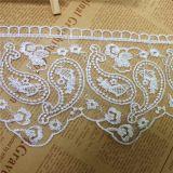 工場標準的な卸売11.5cmの幅の刺繍の衣服のアクセサリのためのナイロン純レースポリエステル刺繍のトリミングの空想の網のレース及びホーム織物及びカーテン
