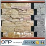 Расположенный ступенями и штабелированный искусственний камень культуры уступчика для панели камня стены